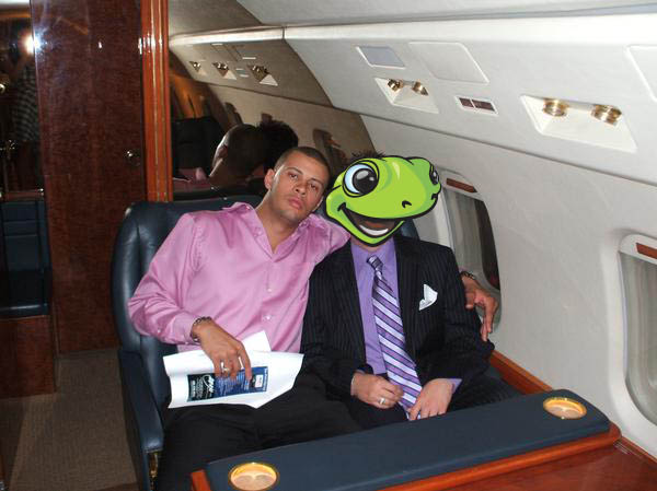 Me on a G4 with a Famous Basketball Player